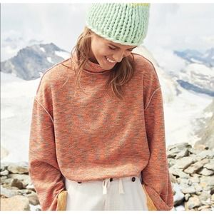 FREE PEOPLE Oversized Cozy Knit Turtleneck Sweater Size Small